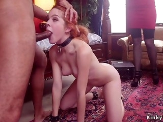 Step mommy makes young girl spinner bang butler